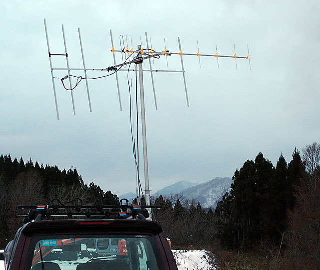 6elements H-Hentenna and 12elements Yagi-Uda Beam Toward Satellite
