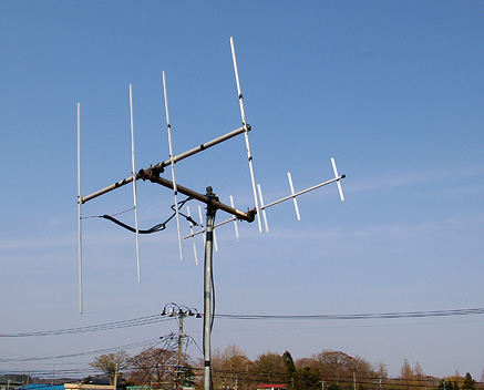 145MHz 4el.H-Hentenna and 435MHz 7el.H-Hentemma for Satellite. Elevation Angle: 10deg.