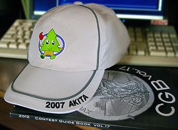 この帽子で秋田をアピール?