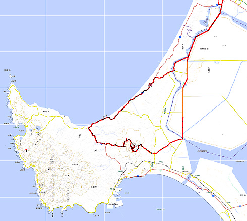 寒風山コース Map