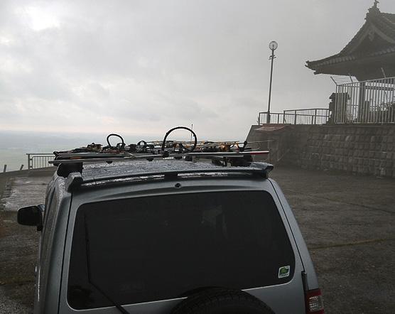 五城目町 森山(希望の鐘) 標高283m QM09BW。撤収後 下山直前。